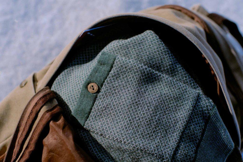 Pelago merinovillapaidasta löytyy näppärä takatasku.